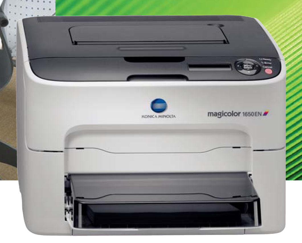 Designed to be the best small office printer for the money, the Konica  Minolta magicolor 1650EN ...
