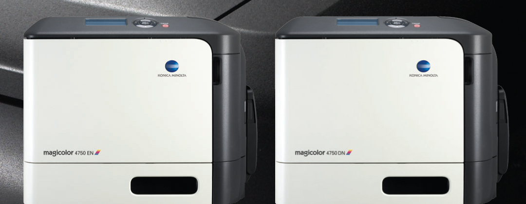 The Next Big Thing In Color Printing Its Right Here Each Konica Minolta Magicolor 4750EN And 4750DN Is A Small Wonder Measuring At Just 165 X 13